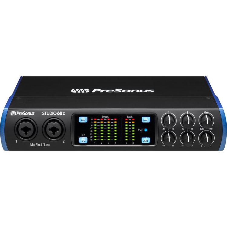 PreSonus Studio 68c 6x6 USB Type-C Audio/MIDI Interface