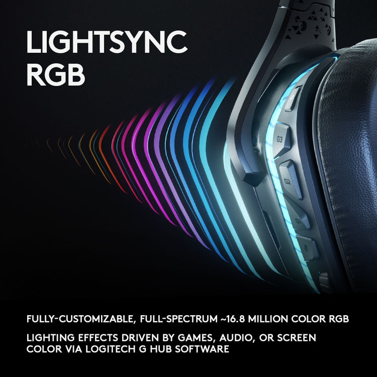 Logitech G935 Wireless 7 1 Surround Sound LIGHTSYNC Gaming Headset