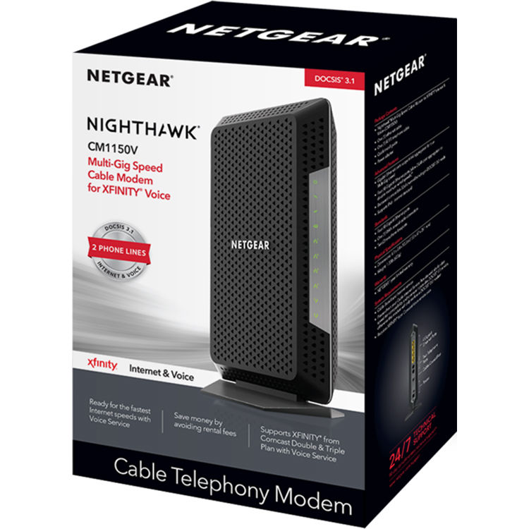 Netgear Nighthawk CM1150V Multi-Gig Cable Modem for XFINITY Voice