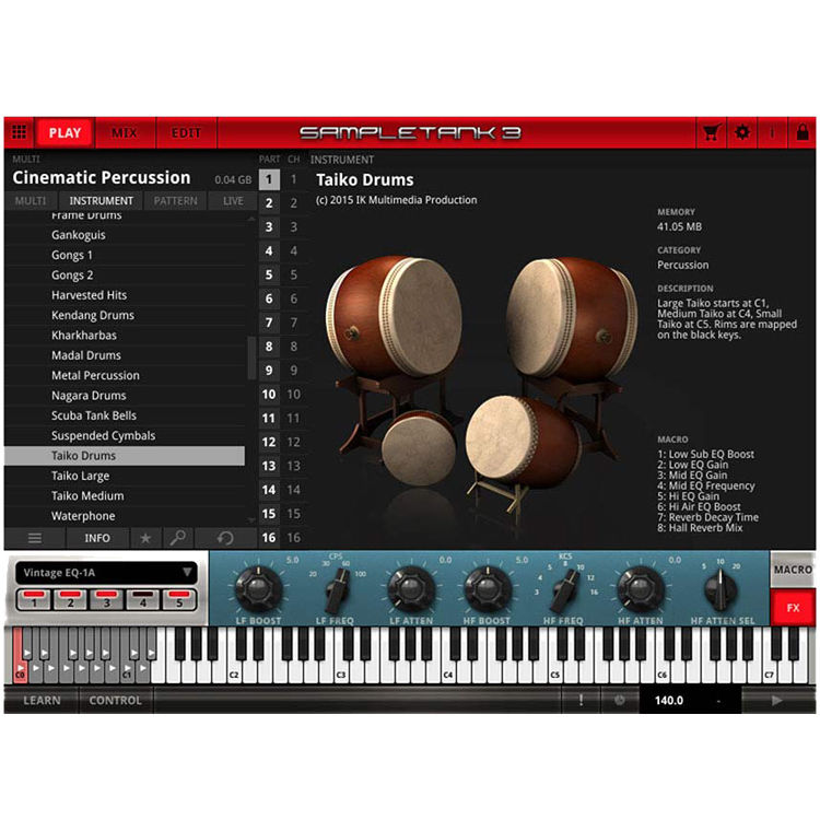 IK Multimedia SampleTank MAX - Sample-Based Virtual Instrument Bundle (Full  Version, Boxed)
