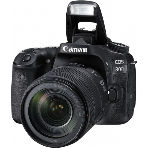 Canon Eos 80d Dslr Camera With 18 135mm Lens 1263c006 B H Photo