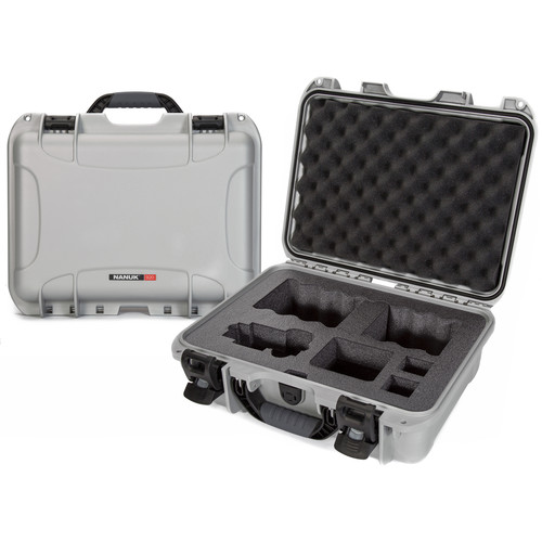Nanuk 920 Waterproof Hard Case with Lid Organizer for Sony A7R Size Camera Black